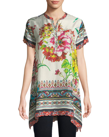 Johnny Was Victoriana Printed Georgette Tunic, Plus Size