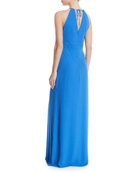 Flowy Keyhole Cutout Sleeveless Gown