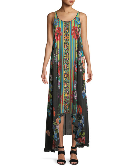 Johnny Was Garden Arch Sleeveless Georgette Dress