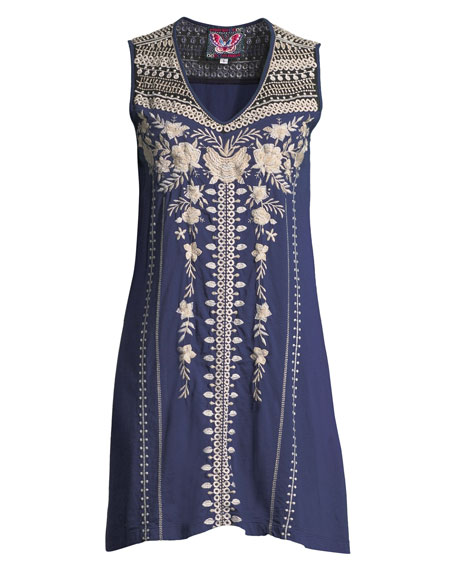 Briar Yoke Cotton Tank Tunic Dress