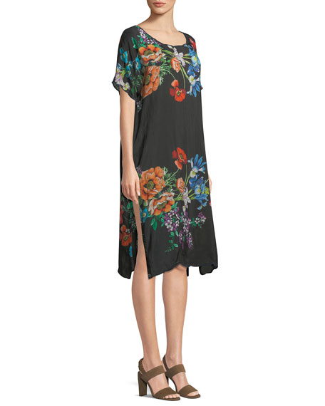 Flower Garden Georgette Dress, Plus Size