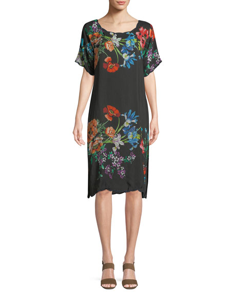 Johnny Was Flower Garden Georgette Dress, Plus Size