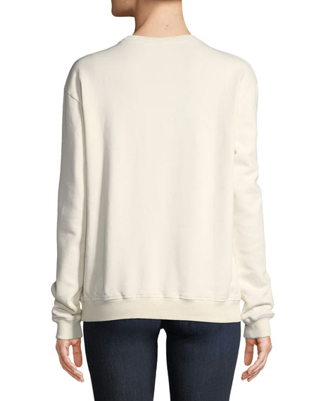 Paris Cheri Long-Sleeve Crewneck Sweatshirt