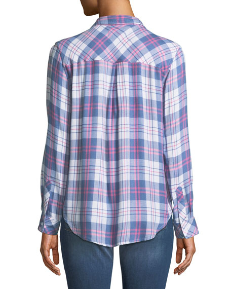 Hunter Plaid Long-Sleeve Top