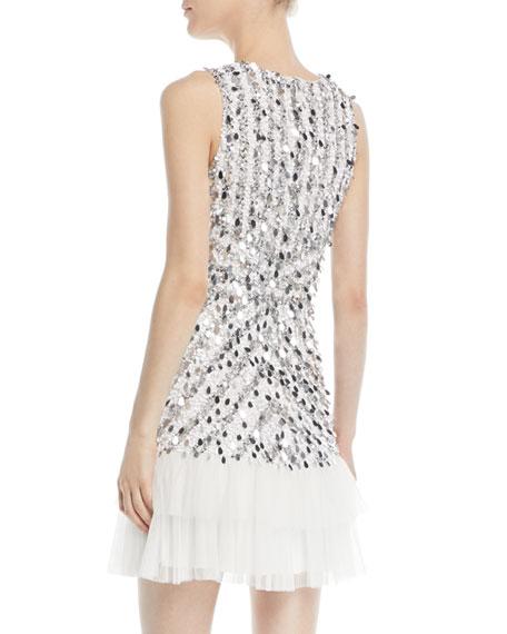 Madison Sequin Mini Dress w/ Ruffle Hem
