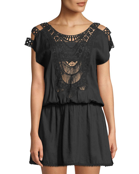 Camilla Crochet Coverup Mini Dress