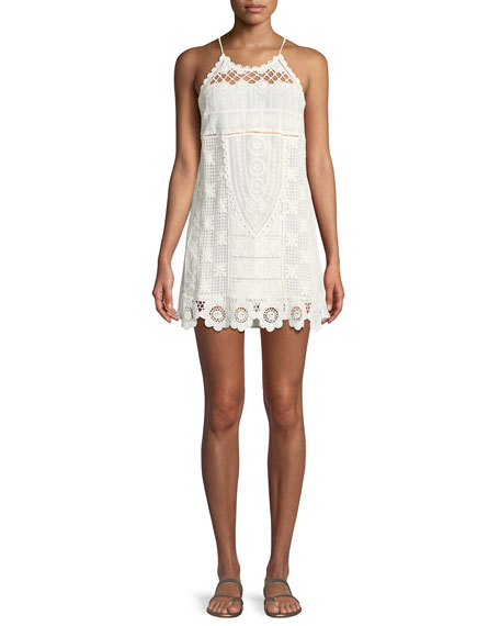 Alexia Lace Coverup Mini Dress