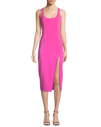 Racerback Midi Racerback Slit Cocktail Dress