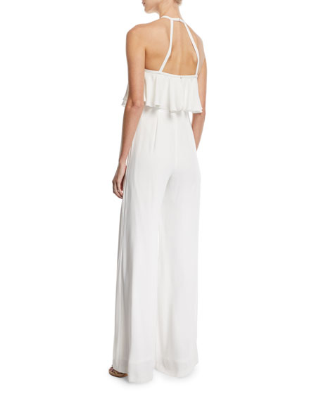 Sleeveless Popover Halter Jumpsuit