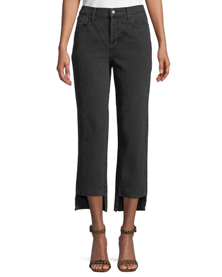 Wynne Cropped Straight-Leg Jeans