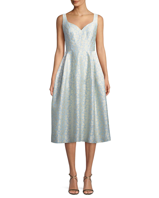 Jill Jill Stuart Virginia Sweetheart Jacquard Midi Dress