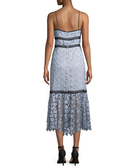 Lea Floral Lace Midi Dress