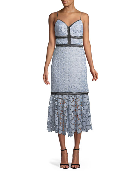 Jill Jill Stuart Lea Floral Lace Midi Dress