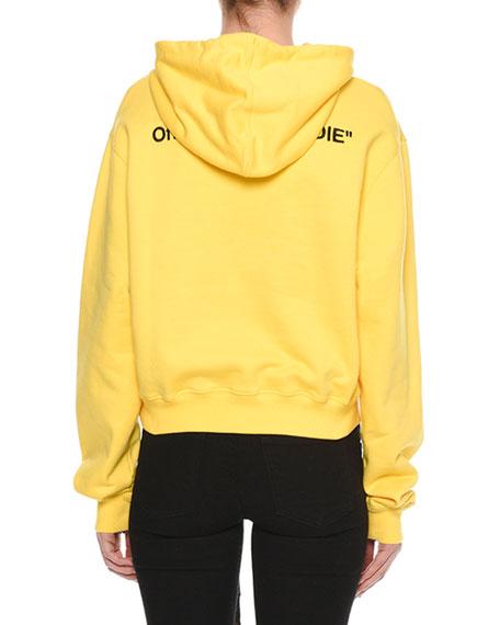 """Hoodie"" Cropped Cotton Sweatshirt"