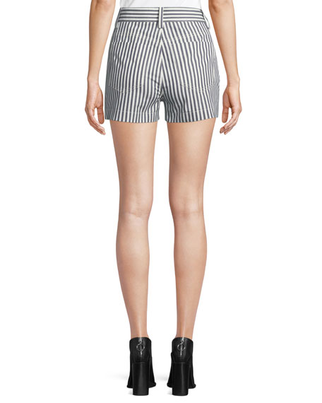 Striped Button-Fly Shorts