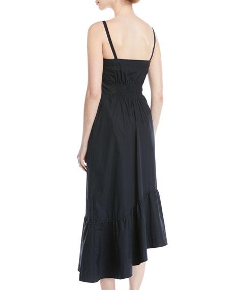 Asymmetric Button-Front Cami Dress