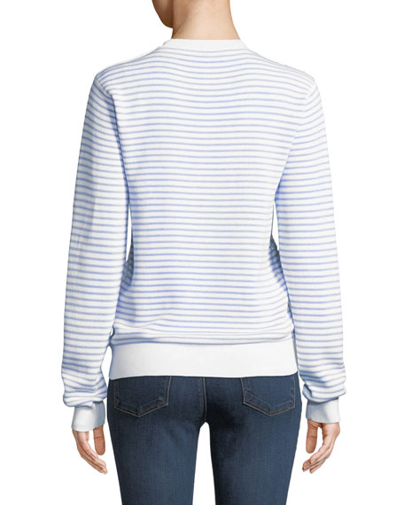 Striped Cotton Crewneck Pullover Sweater