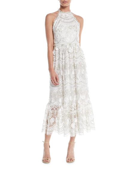 Rosita Lace Halter Midi Dress