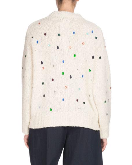 Comfort Embellished Mock-Neck Sweater