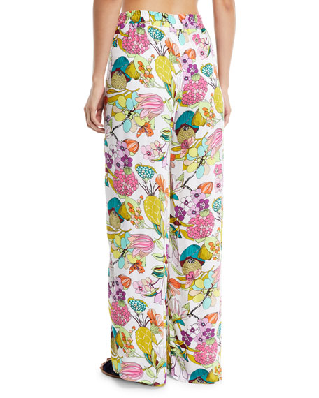 Key West Botanical Split-Leg Wrap Pants