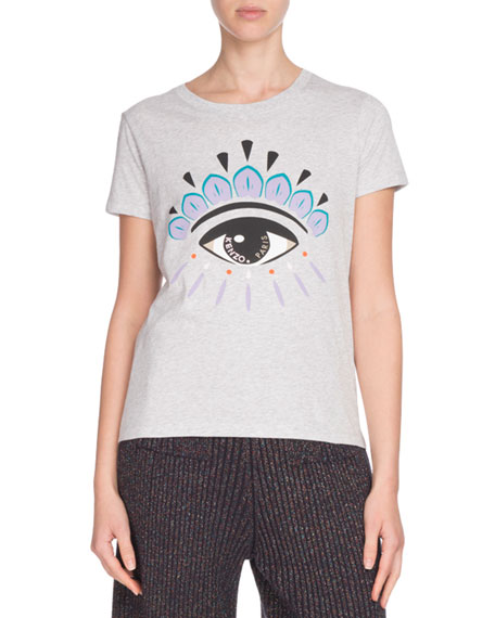 Kenzo Icon Eye-Print Classic Short-Sleeve T-Shirt