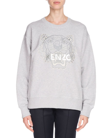 Embroidered Tiger Logo Sweatshirt