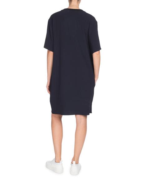 Short-Sleeve Tiger Logo Tee Dress with Pockets