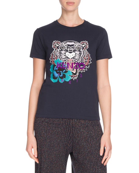 Relaxed Tiger Logo Graphic Short-Sleeve Tee