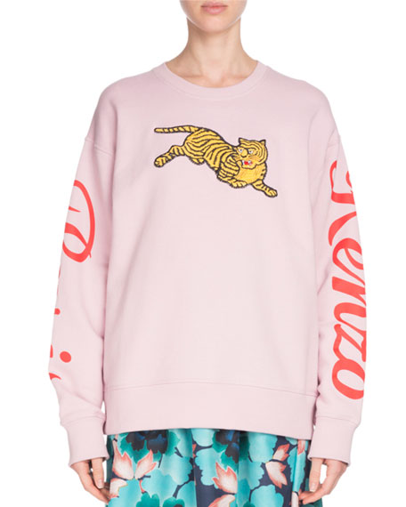 Kenzo Jumping Tiger Graphic Crewneck Sweatshirt