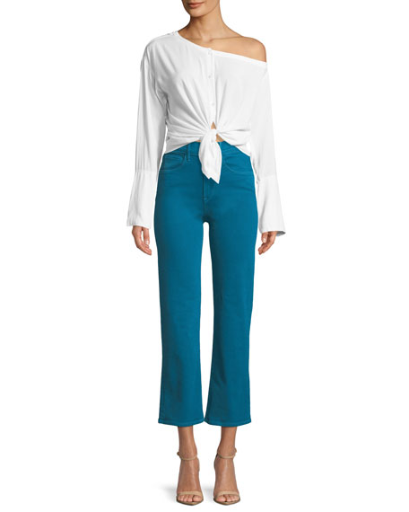 W4 Shelter Cropped Wide-Leg Jeans
