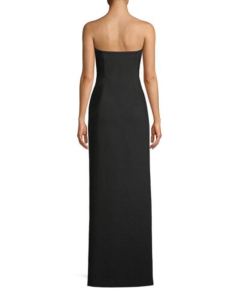 Kiera Strapless Side-Slit Frill Gown
