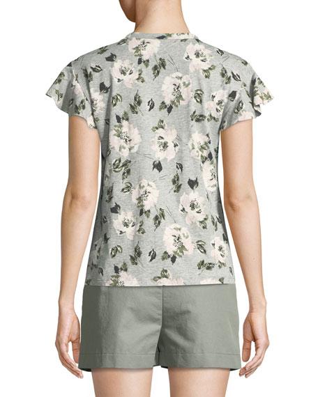 Magnolia Short-Sleeve Floral Tee