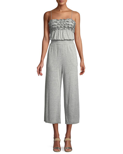 Sleeveless Ruffle Jersey Jumpsuit