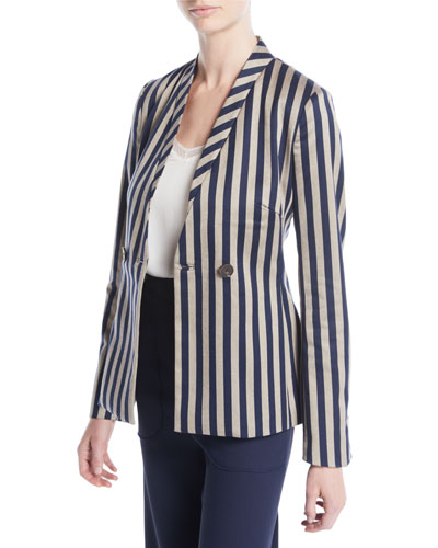 Structured Striped Blazer