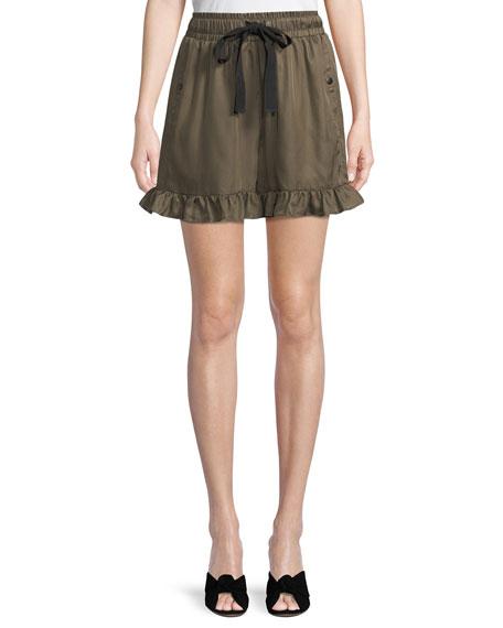 Tova Drawstring Ruffle Shorts