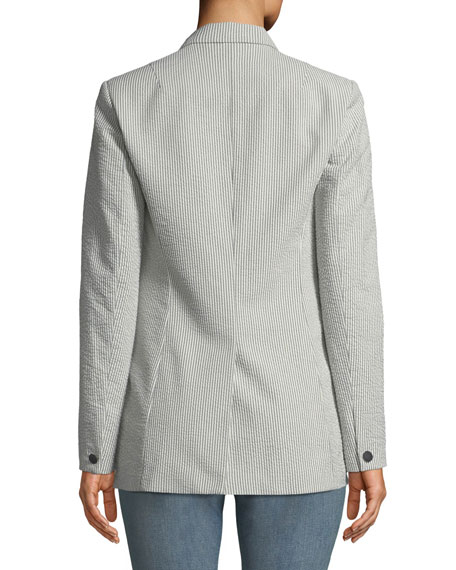 Ridley Striped One-Button Blazer