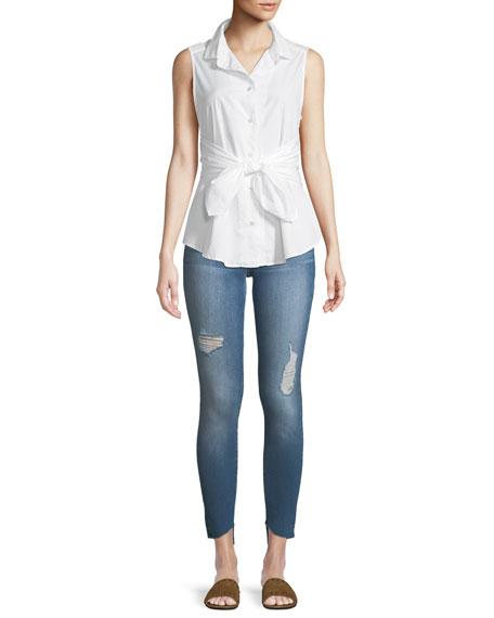 Le Skinny de Jeanne Reverse-Cascade Hem Jeans