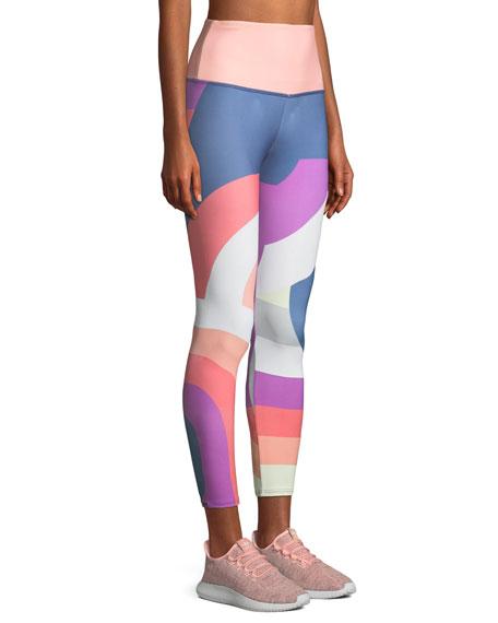 High-Rise Printed Midi Leggings