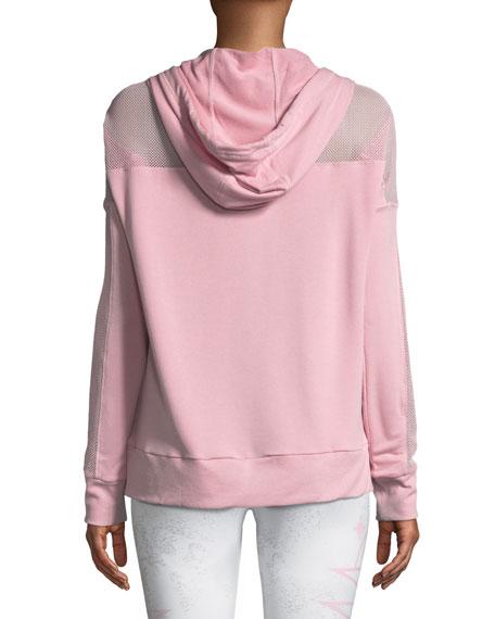 Mesh Long-Sleeve Hoodie