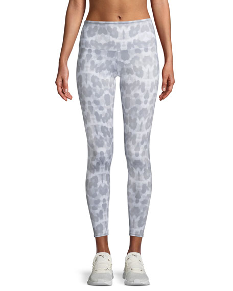 Onzie High-Rise Athletic Leggings, Soft Leopard