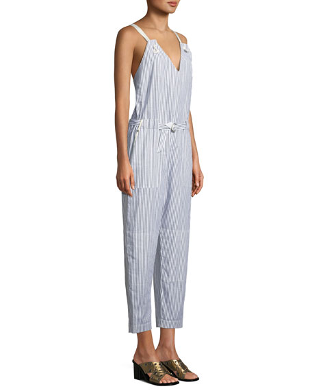 Ellen Striped Belted Jumpsuit