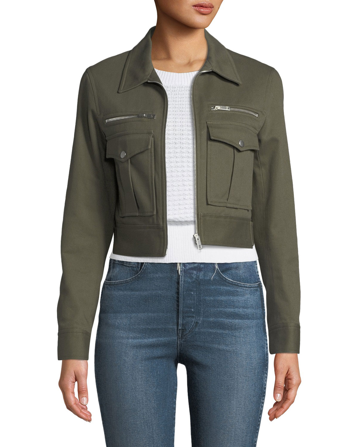 1bc6d726d356 Rag   Bone Pike Cropped Zip-Front Utility Jacket