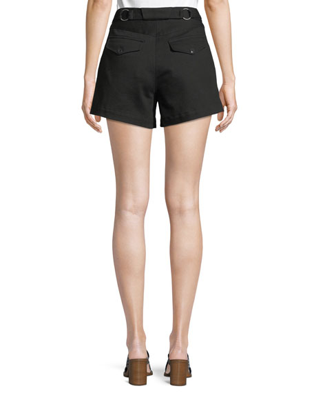 Lora Belted Twill Shorts