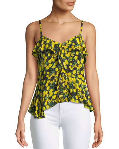 Bonnie Lemons Sleeveless Ruffle Cami Top