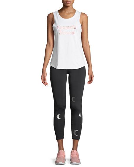 High-Rise Foil Graphic Midi Yoga Leggings
