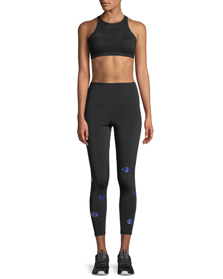 High-Rise Printed Performance Leggings