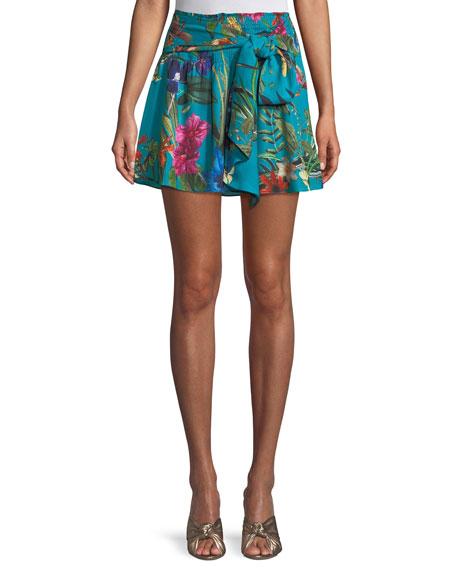 Bridgette Floral Tie-Front Skirt