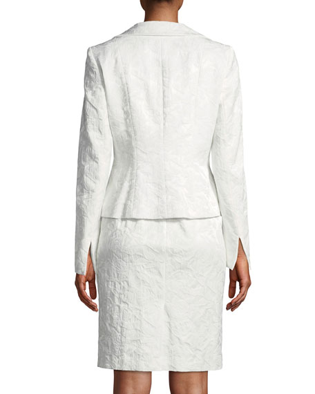 Two-Piece Jacquard Suiting Set w/ Jacket and Dress