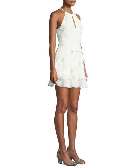 Phoenix Ruffled Halter Mini Dress