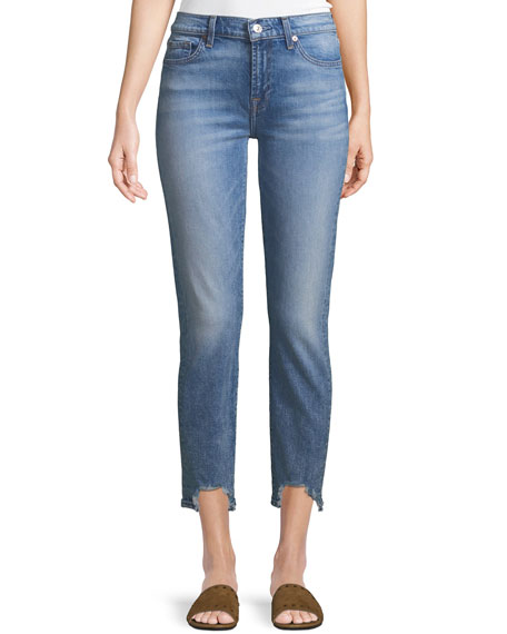 7 for all mankind Roxanne Frayed Ankle Skinny